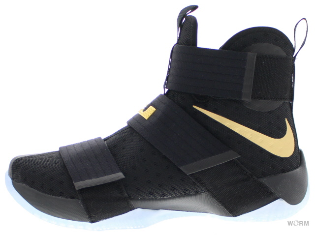 new product f26b6 8b6b6 NIKE LEBRON ZOOM SOLDIER 10 ID 885,682-991 black gold Nike Revlon zoom  soldier ...