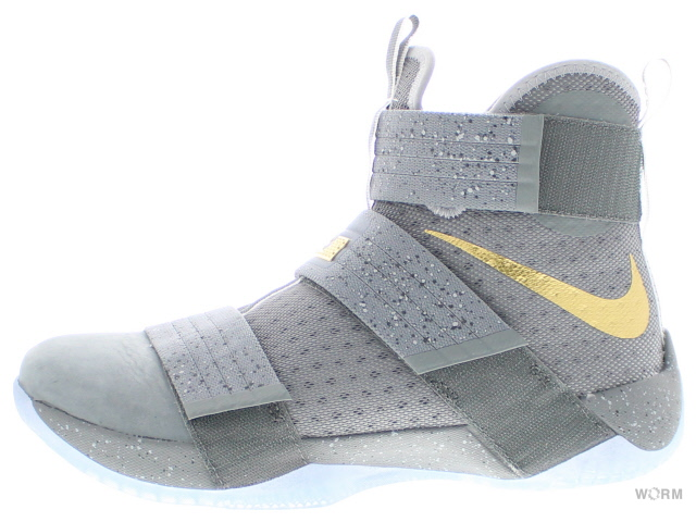 NIKE LEBRON SOLDIER 10 SFG PE 899620-010 cool grey/gold-wolf grey ナイキ レブロン ソルジャー 未使用品【中古】