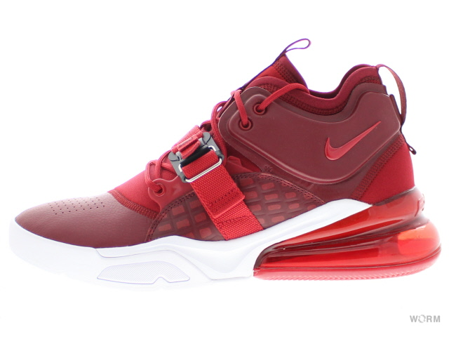 NIKE AIR FORCE 270 ah6772-600 team red/gym red-white ナイキ エア フォース 未使用品【中古】
