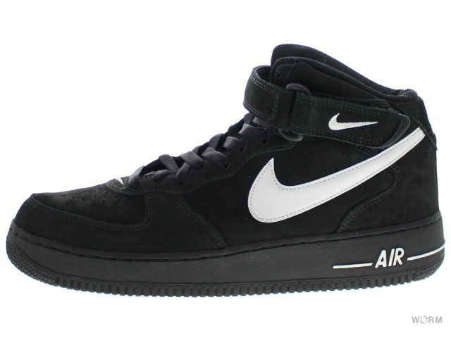nike air force 1 mid black and white