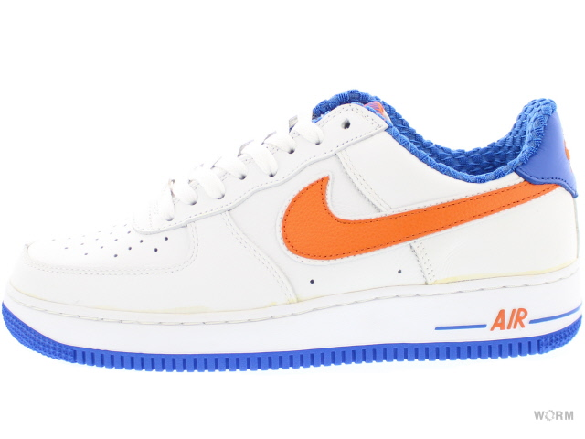 NIKE AIR FORCE 1 306509-181 white/orange blaze-signal blue 에어포스미사용품