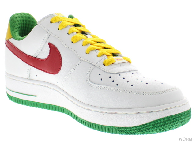 NIKE AIR FORCE 1 PREMIUM 313641-161 wht/vr rd-cl grn-vr mze(wi 4)空軍未使用的物品