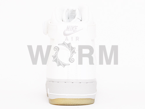 NIKE AIR FORCE 1 HIGH PREMIUM 386161-102 white/white air force high unread items