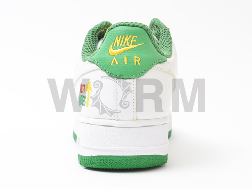 "1 1 624,054-111 NIKE AIR FORCE PLUS ""WEST INDIES ""wht/wht-classic green (wi) air force-free article"