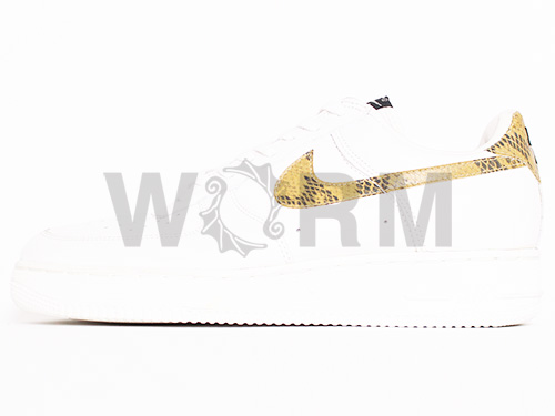 "NIKE AIR FORCE 1 SC ""1996"" 630033-121 ivory/tan snakeskin Airforce unread items"