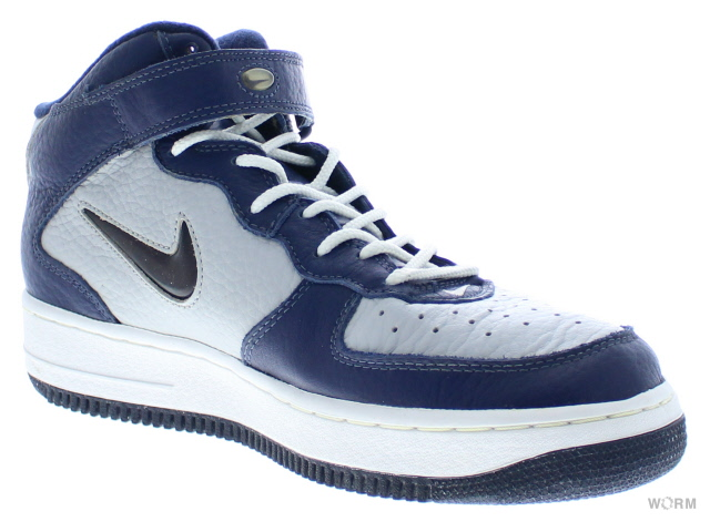 """NIKE AIR FORCE 1 MID """"1997"""" 630136-041 light zen grey/mid navy-white air force unread items"""