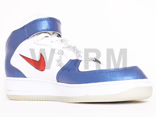 "NIKE AIR FORCE 1 MID CL ""1997"" 630258-161 white/varsity red-mdnight navy Airforce unread items"
