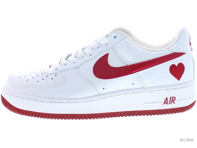 """NIKE WMNS AIR FORCE 1""""2004""""307109-161 white/varsity red(v-day)空軍未使用的物品"""
