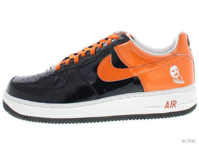 NIKE AIR FORCE 1 PREMIUM 312945-081 black/orange blaze-white空軍未使用的物品