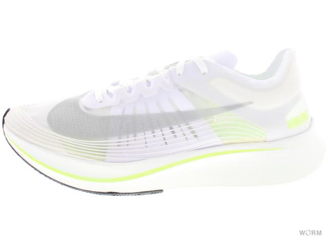 NIKE ZOOM FLY SP aj9282-107 white/volt glow-summit white ナイキ ズーム フライ 未使用品【中古】