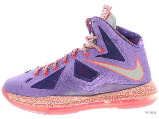 【US9】NIKE LEBRON X - AS 583108-500 lsr purple/strt gry-ttl crmsn レブロン 10 未使用品【中古】