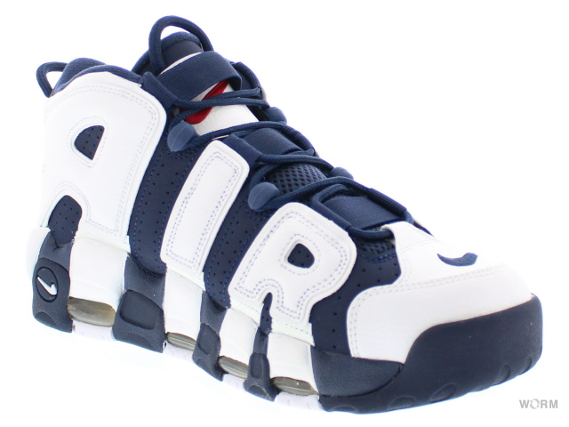 "NIKE AIR MORE UPTEMPO ""OLYMPIC 2016"" 414962-104 white/mid nvy-mtllc gld-unvrst air more uptempo unread items"