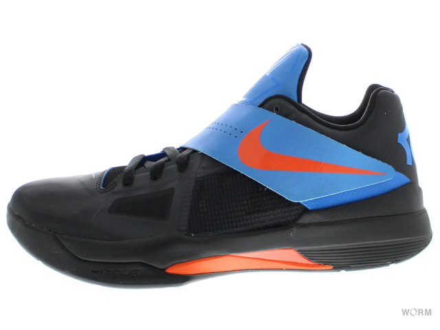 【US9.5】NIKE ZOOM KD IV 473679-001 black/team orange-photo blue ケーディー 未使用品【中古】
