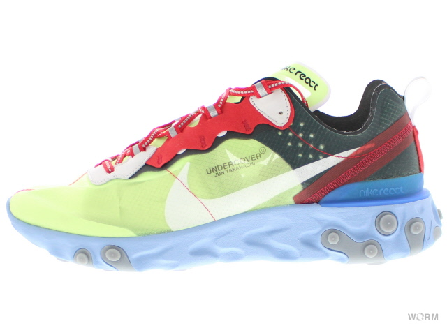 87f9e5a24d07 NIKE REACT ELEMENT 87   UNDERCOVER bq2718-700 volt university red-black Ney  drill act element under cover-free article