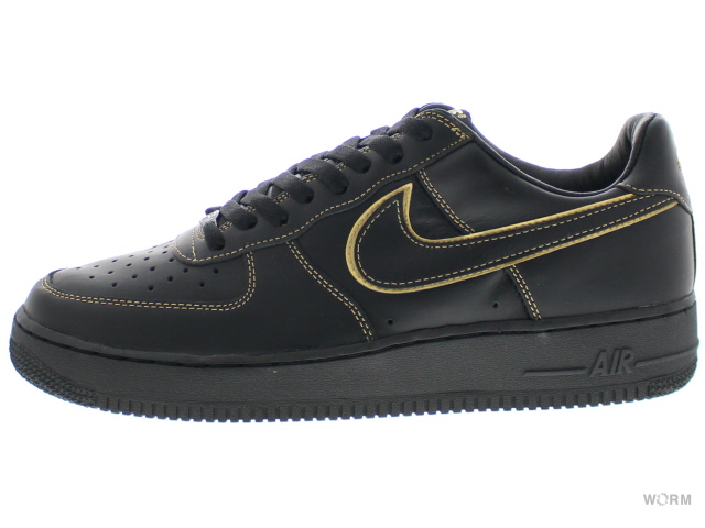 black gold air force ones