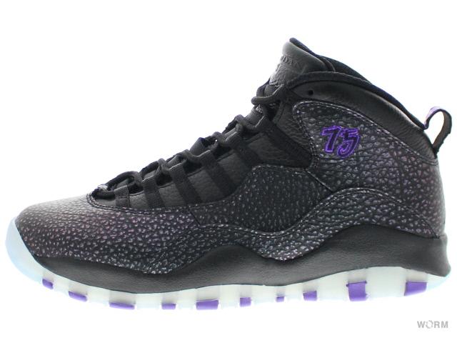 AIR JORDAN RETRO 10 310805-018 black/fierce purple-black エア ジョーダン レトロ 未使用品【中古】