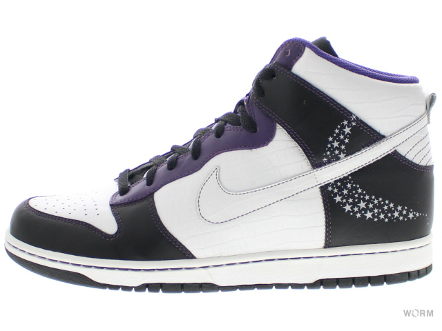 purple and white nike dunks