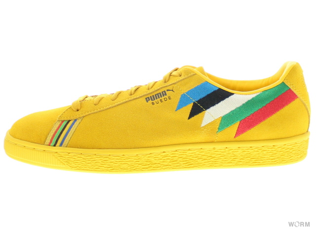 low priced 0cb07 bc100 PUMA SUEDE X PWR THRU PCE X AFRICA 366,295-01 spectra yellow-puma black  Puma suede-free article