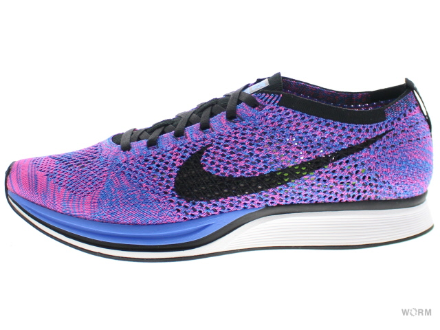 on sale 0f88b 2d745 NIKE FLYKNIT RACER 526,628-400 game royal black-pink flash Nike fried food  ...
