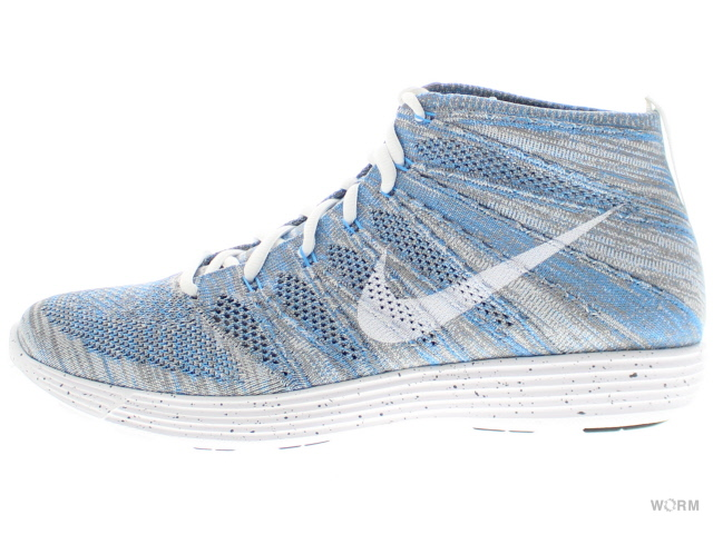 NIKE NK LUNAR FLYKNIT CHUKKA HTM SP 599347-410 blue glow/white-light charcoal ナイキ ルナ フライニット チャッカ 未使用品【中古】