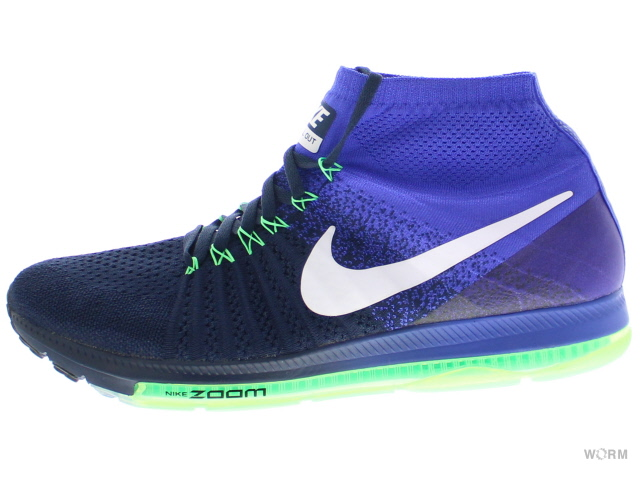 NIKE ZOOM ALL OUT FLYKNIT 844134-404 college navy/white ナイキ ズーム オール フライニット 未使用品【中古】