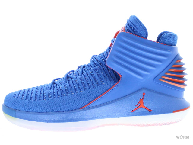 AIR JORDAN XXXII aa1253-400 signal blue/team orange エア ジョーダン 32 未使用品【中古】