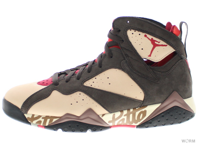 AIR JORDAN 7 RETRO PATTA at3375-200 shimmer/tough red-velvet brown エア ジョーダン レトロ 未使用品【中古】