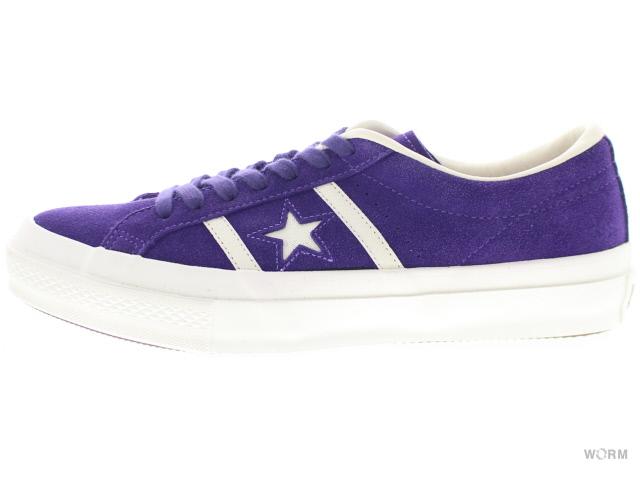 CONVERSE STAR&BARS SUEDE 1cl538 purple コンバース スターアンドバーズ スエード 未使用品【中古】