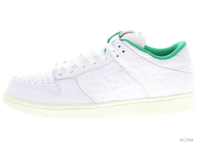 NIKE SB DUNK LOW OG QS 2 cu3846-100 white/white-lucid green-sail ナイキ ダンク ロウ 未使用品【中古】