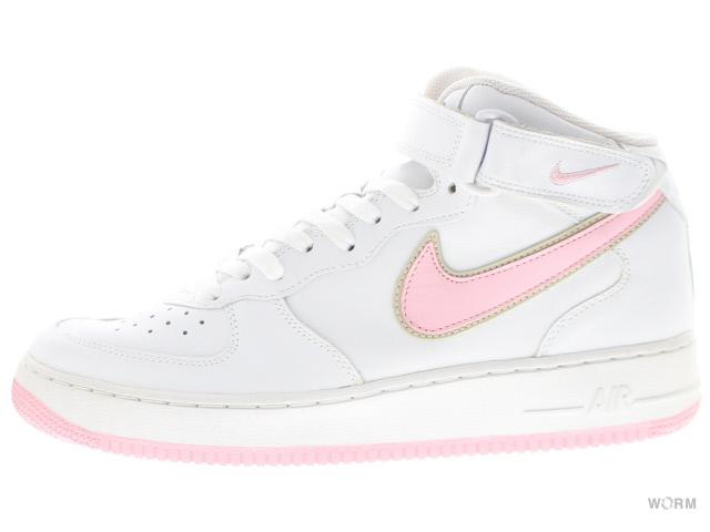 NIKE WMNS AIR FORCE 1 MID 308915-162 white/shy pink-net ナイキ ウィメンズ エア フォース ミッド 未使用品【中古】