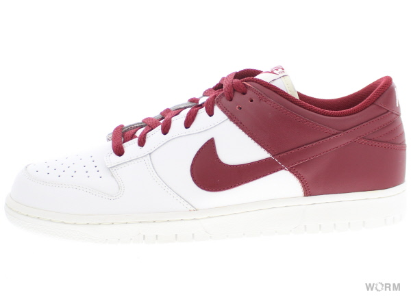 NIKE DUNK LOW LEATHER 312425-161 white/team red ナイキ ダンク ロウ レザー 未使用品【中古】