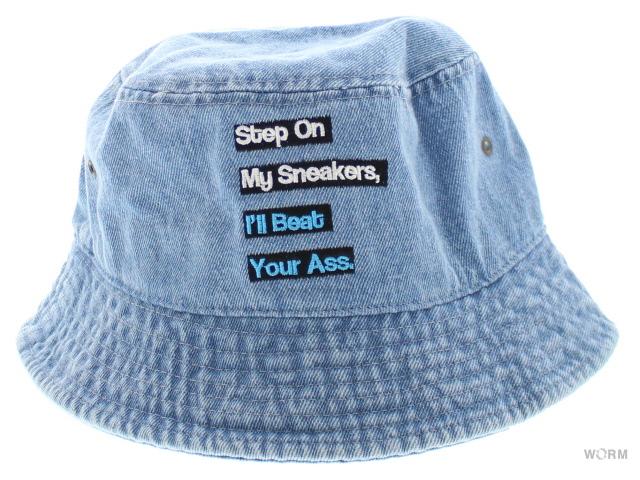 worm tokyo worm original smiy bucket hat blue denim washed worm
