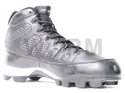 AIR JORDAN MCS IX 304699-001 black/metalic silver空氣喬丹9釘鞋未使用的物品