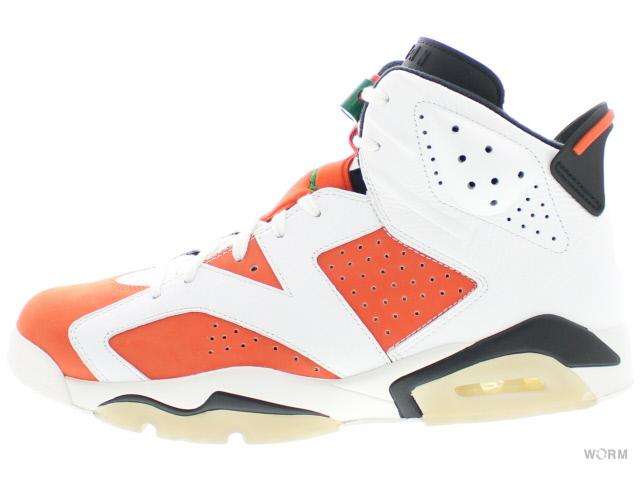 AIR JORDAN 6 RETRO 384664-145 summit white/team orange-black エア ジョーダン 未使用品【中古】