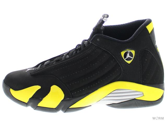 d2a17d5c7e3b AIR JORDAN 14 RETRO 487471-070 black vibrant yellow-white Air Jordan 14  unread items