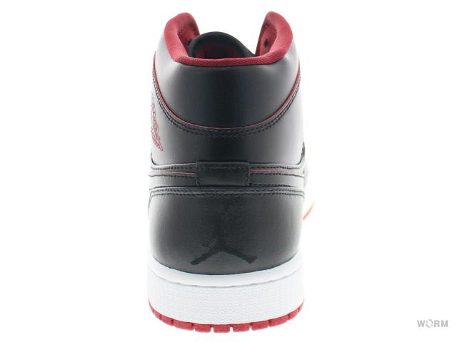 best loved 48678 d535f AIR JORDAN 1 MID 554,724-028 black black-white-gym red Air Jordan mid-free  article
