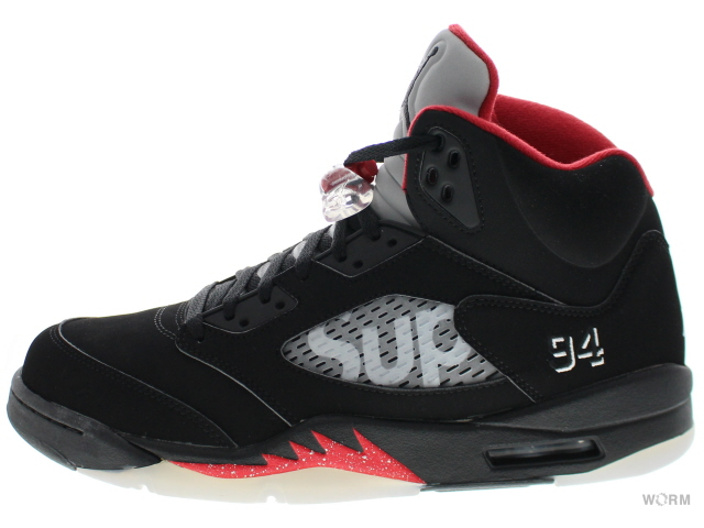 AIR JORDAN 5 RETRO SUPREME 824371-001 black/white-varsity red エア ジョーダン 5 未使用品【中古】