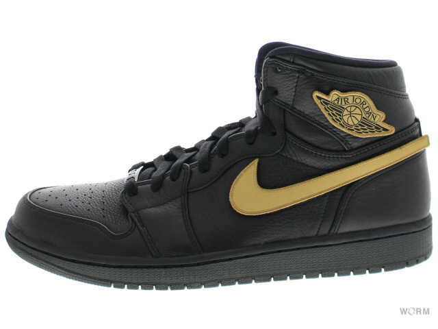 AIR JORDAN 1 RETRO HIGH BHM 908656-001 black/metallic gold-black エア ジョーダン 1 未使用品【中古】