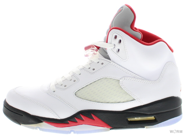 best website 6d907 d85eb AIR JORDAN 5 RETRO  quot 2013 quot  136027-100 white fire red- ...