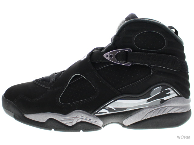 AIR JORDAN 8 RETRO 305381-003 black/white-lt graphite エア ジョーダン 未使用品【中古】