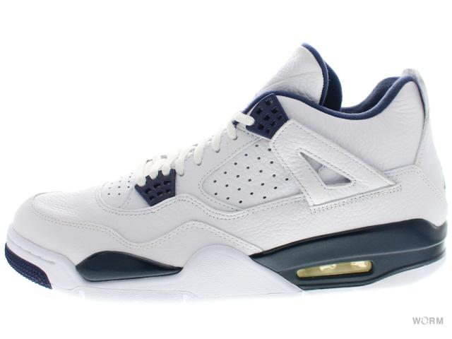 9b7b2611ae6f30 AIR JORDAN 4 RETRO LS LEGEND BLUE 314254-107 white legend blue-midnight  navy air Jordan 4 unread items