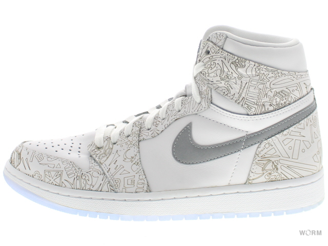 020dce714bef26 AIR JORDAN 1 RETRO HI OG LASER 705289-100 white metallic silver Air Jordan 1  unread items