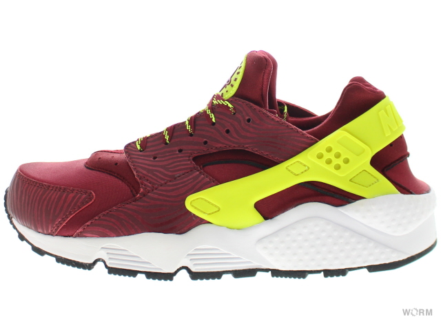 【US8】NIKE AIR HUARACHE 318429-630 team red/volt-black エア ハラチ 未使用品【中古】