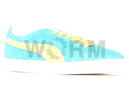 PUMA SUEDE VNTG 353549-04 green/lemon curry suede vintage unread items