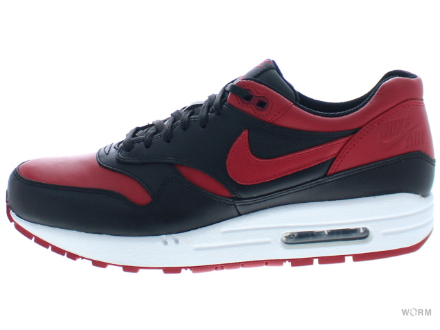 NIKE AIR MAX 1 PREMIUM QS 665873-061 black/varsity red-white エア マックス 未使用品【中古】