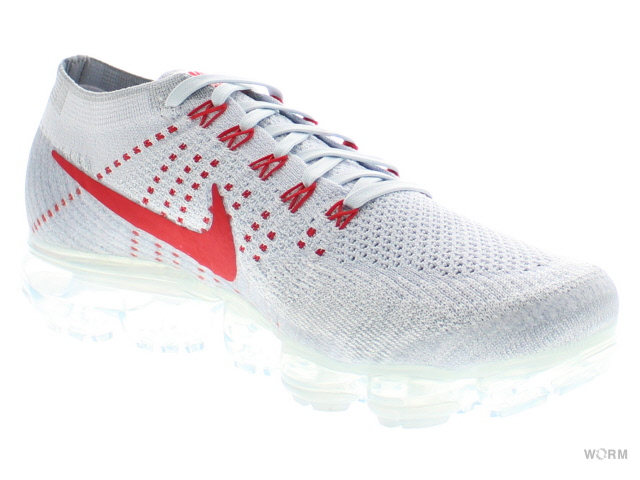 NIKE AIR VAPORMAX FLYKNIT 849558-006 pure platinum/university red eaveipamakkusufurainitto未使用的物品