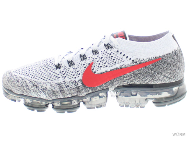88dc89e2ff ... shop nike air vapormax flyknit 849558 020 pure platinum university red  air newspaper max fried food