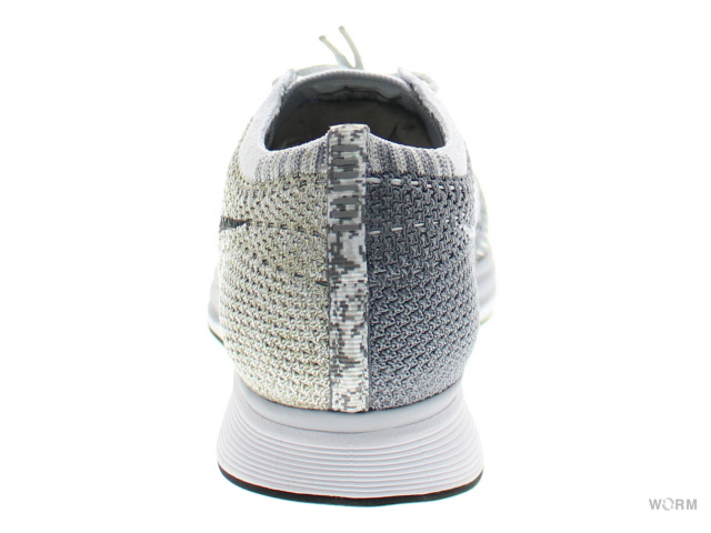 NIKE FLYKNIT RACER 862713-002 pure platinum/cool grey-white油炸食品編織物速度比賽者未使用的物品