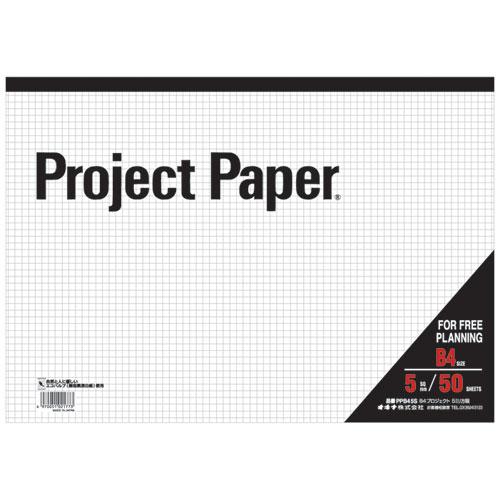 オキナ プロジェクトペーパー B4 5mm方眼罫 50枚 PPB45S