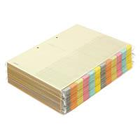コクヨ「カラー仕切カード(ファイル用)12山見出し/お徳用パック」A4-S(シキ-150)